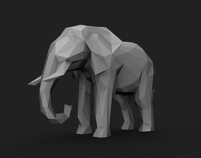 Elephant Low Poly 3D print model