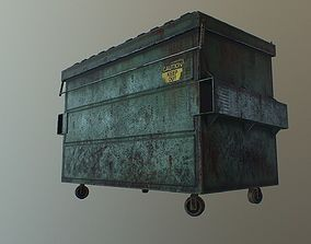 3D model PBR Dirty Dumpster