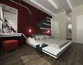 Red Bedroom 3D