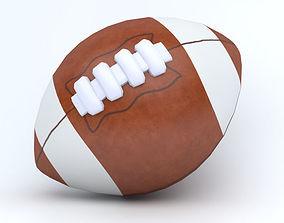 American football ball 3D model realtime