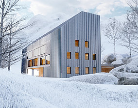 House Chalet Alps 3D model