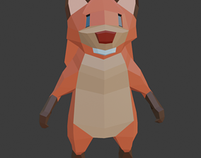 Low Poly Squirrel 3D model realtime