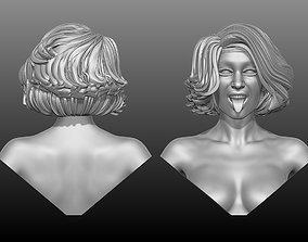 Woman Character sculpture Head 3D print 3D model