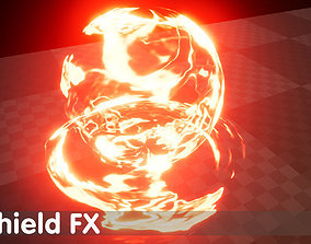 Shield FX - Unreal Engine 4 3D model animated