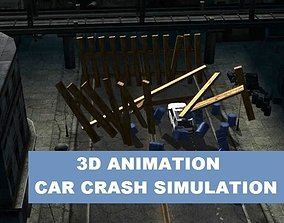 3d Car Crash Simulation animated game-ready