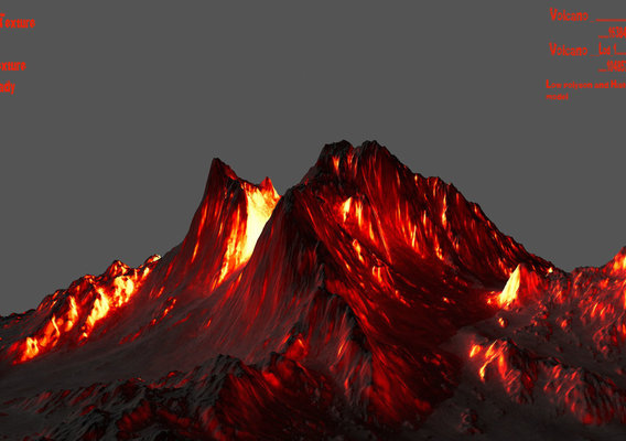ice and volcano