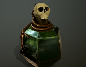 low-poly low-poly 3D model Bottle