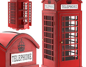 SHOWCASE LONDON TELEPHONE BOX 3D