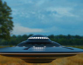 3D model game-ready Spaceship arrival