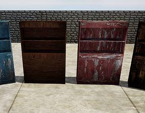 bookshelf LOW POLY various textures 3D model