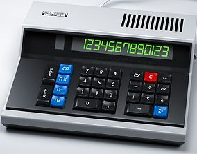 3D Vintage calculator Elektronika MK59