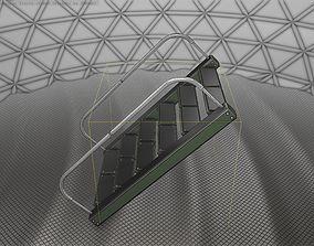 3D asset Sci-Fi Stairs - 19 - Green Version
