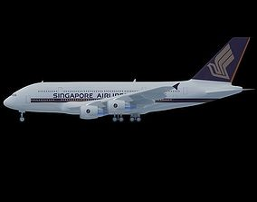 3D model Singapore Airlines A380