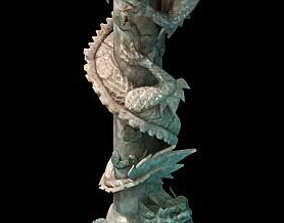 trace Game Model - Tombstone Dragon Shaped Pillar 01