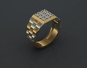 3D printable model Men Ring Rolex Design wristwatch