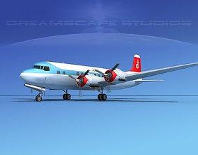 Douglas DC-6 Nordair 3D