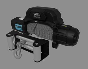 Electric 12v winch 3D model