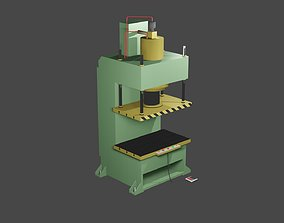 Hydraulic press stamping machine for forming 3D model 1