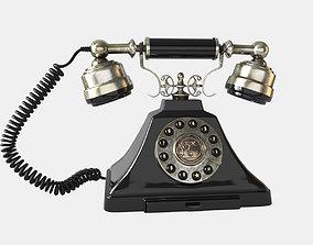 Old Fashioned 1930s Vintage Phone 3D model handset