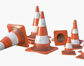Traffic Cone Assets 01 3D model
