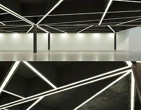 Beamed ceiling Overlap 16 3D model