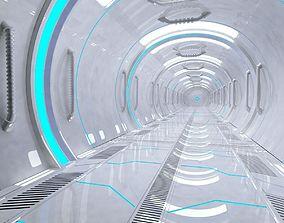 3D model Sci fi Corridor space