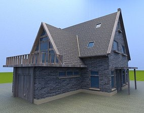 old house architectural 3D model