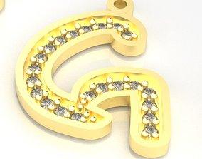 Model 22 Alphabets Necklace The Letter G Necklace Ninja