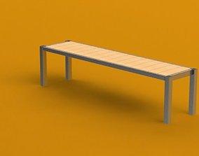 3D Aluminium and wood table