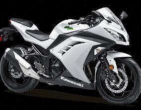 3D model motorcycle kawasaki ninja