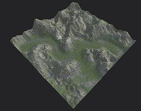 Mountain-01 printable 3D asset