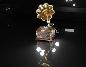 horn 3D asset realtime Gramophone