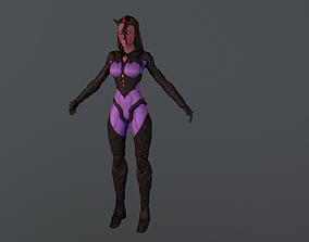 lucifer 3D model Demon Girl