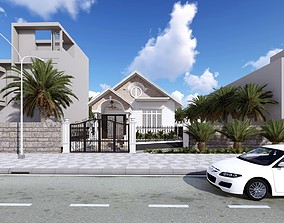 animated Exterior House design 3d model