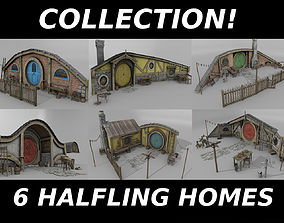 3D model realtime Halfling Home Collection