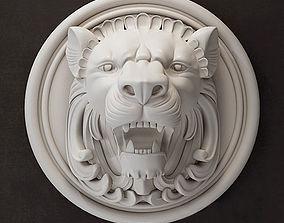 3D model low-poly Lion Head