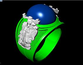 Ring of god of wealth 3D printable model
