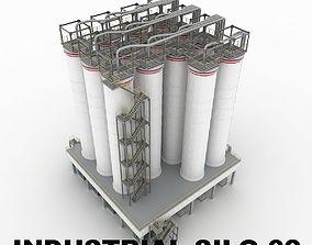3D model Industrial silo 02