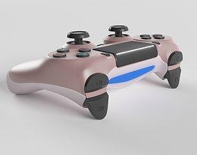 3D Sony PlayStation 4 DualShock Controller Rose Gold