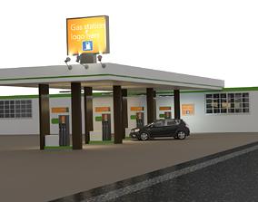 Gas station pump 3D