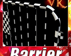 3D Barrier Fence High Detail unwrapped
