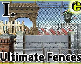 3D asset Ultimate Fence Package