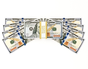 3D 100 dollars - MoneyPack - American Dollars