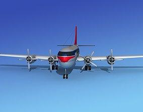 Boeing 377 Northwest Airlines 2 3D