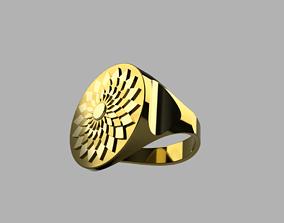 Ring Flower-Sun 3D print model