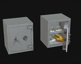 3D asset Lowpoly Safebox