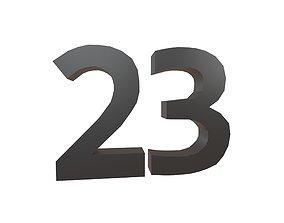Date Number 23 v1 001 3D asset