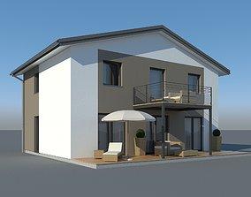 3D model building Family House 011