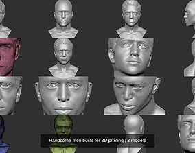 Handsome men busts for 3D printing
