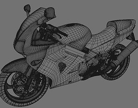 seated 3D model motorcycle